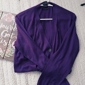 Ralph Lauren Purple Cardigan